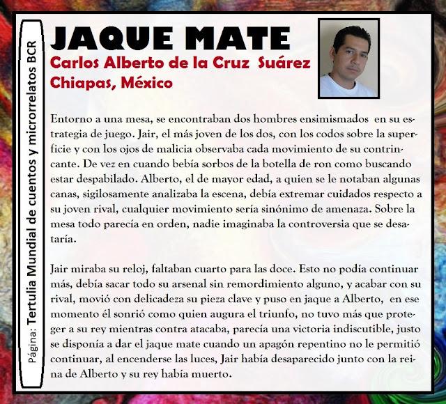 Jaque Mate de Carlos de la Cruz escritor chiapaneco
