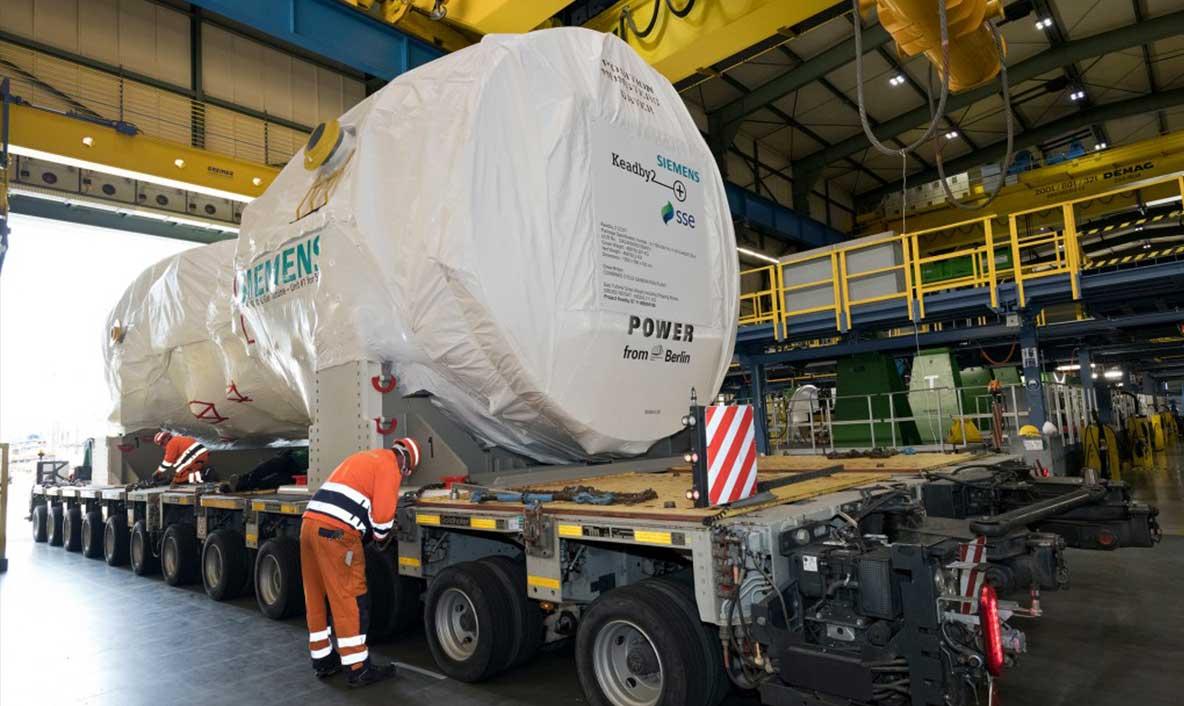L'expédition de la première turbine à gaz SGT5-9000HL