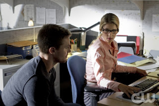 "Emily Bett Rickards as Felicity Smoak in Arrow Episode # 3 ""Lone Gunmen"""