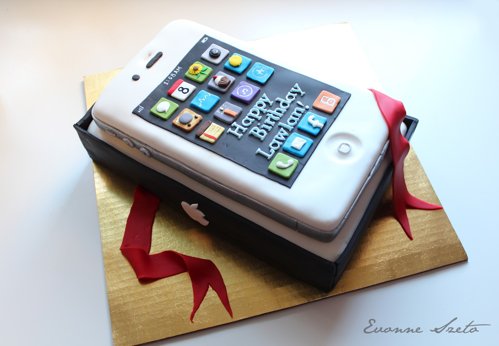 Sweet From The Heart Iphone Cake Mega Man Cake Lavender
