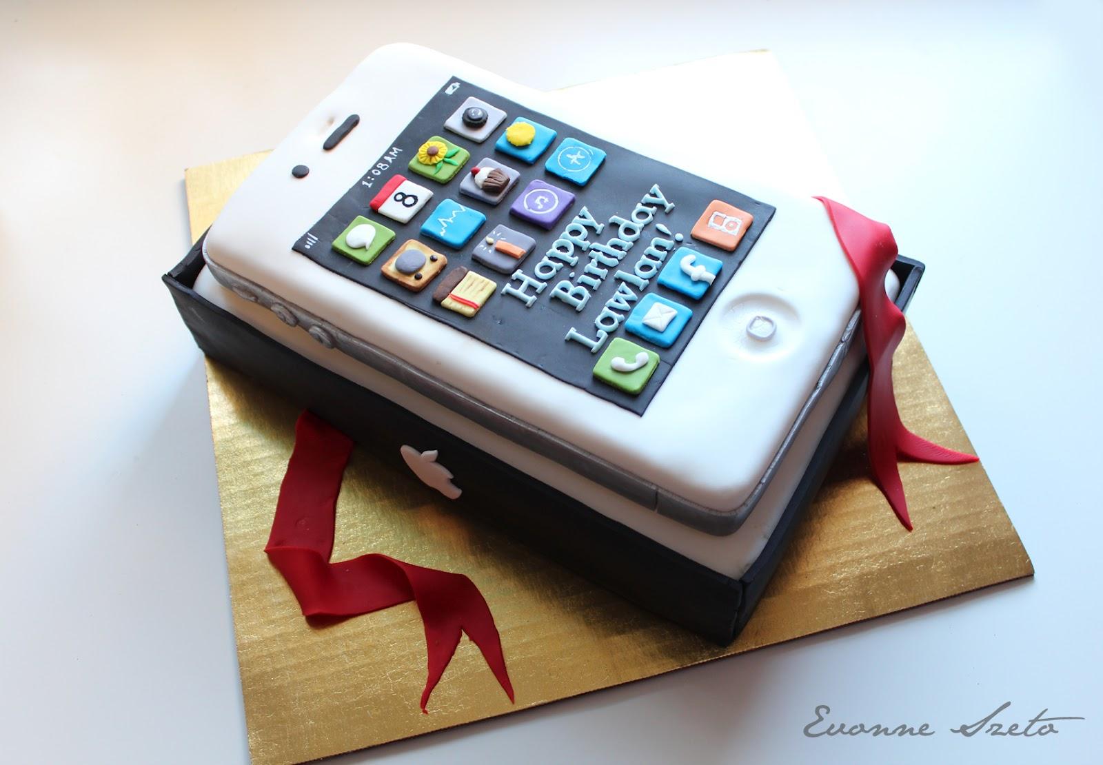 White Iphone Cake