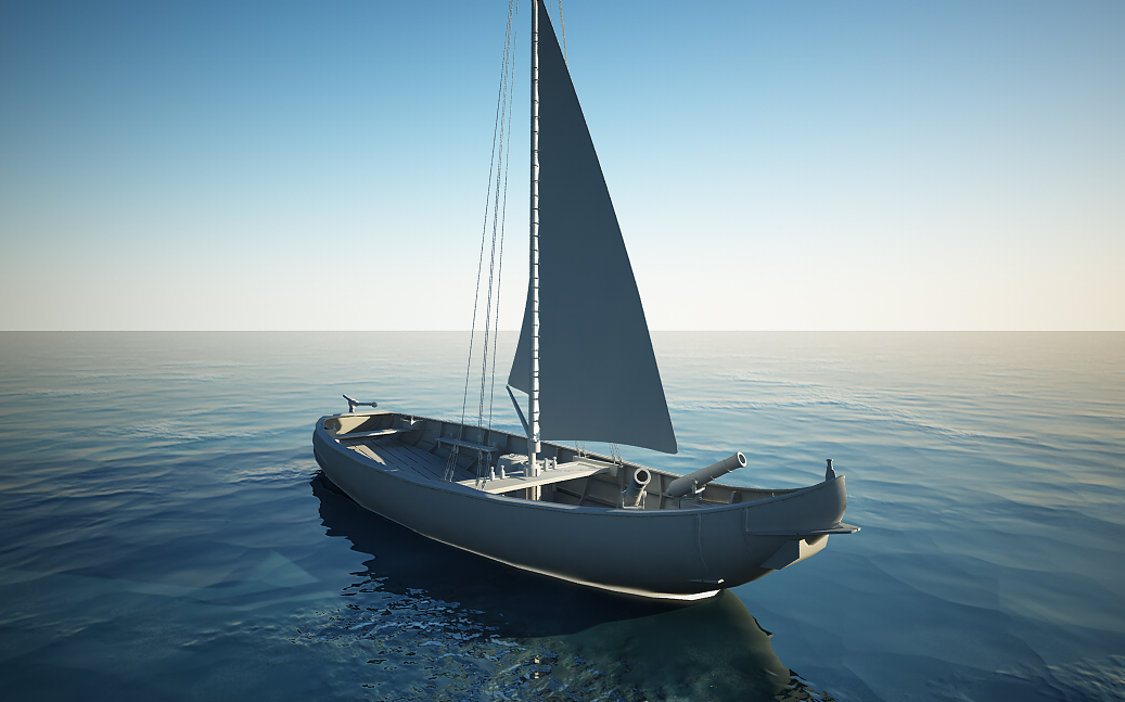 Free Boat Water Scene for VrayforC4D | C4D Vray Source