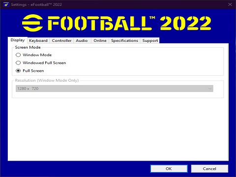 eFootball 2022 Settings App