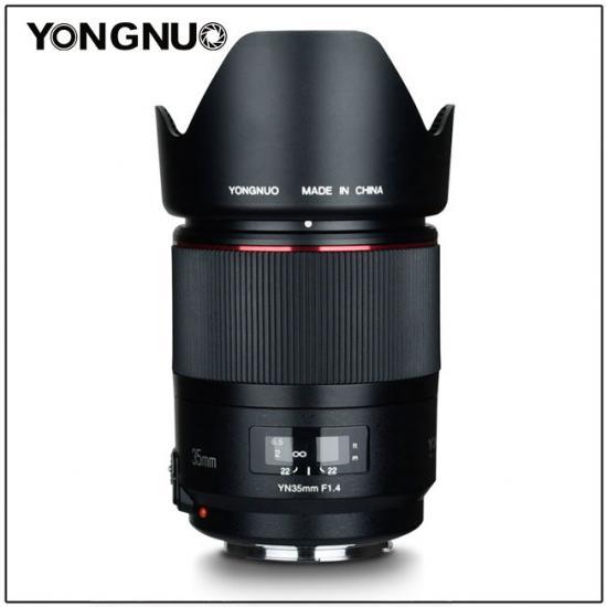 Yongnuo YN 35mm f/1.4 с блендой
