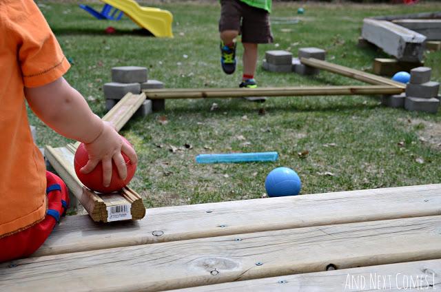 Outdoor ball run - summer camp activities