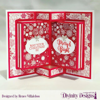 Stamp Set: True Light, Custom Dies: Christmas Lights, Scalloped Ovals, Book Fold Card with Layers, Paper Collection: Snowflake Season