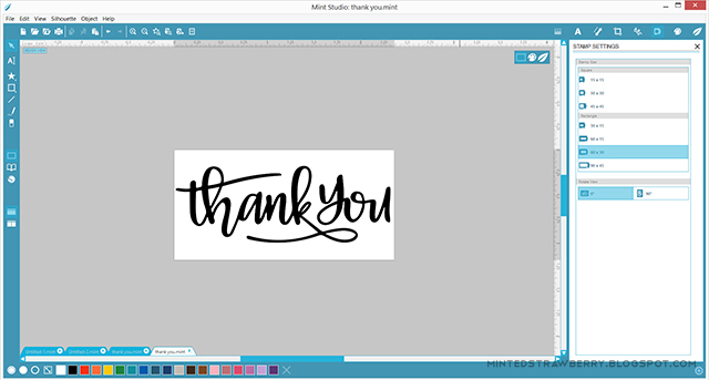 layout your graphic on silhouette mint program