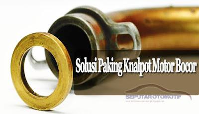 cara mengatasi paking knalpot bocor