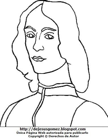 Dibujo de Sandro Bocelli para colorear, pintar e imprimir. Dibujo de Sandro Bocelli de Jesus Gómez
