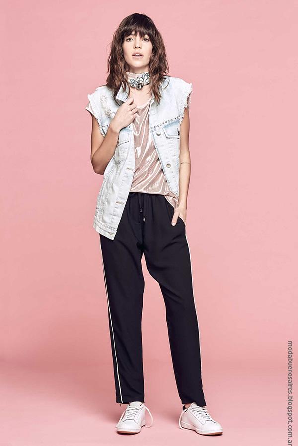 Moda mujer de moda mujer verano 2017. Moda 2017 ropa de mujer urbana.
