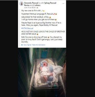 Web Designer Names His Son HTML In Honour Of His Profession (Photos)
