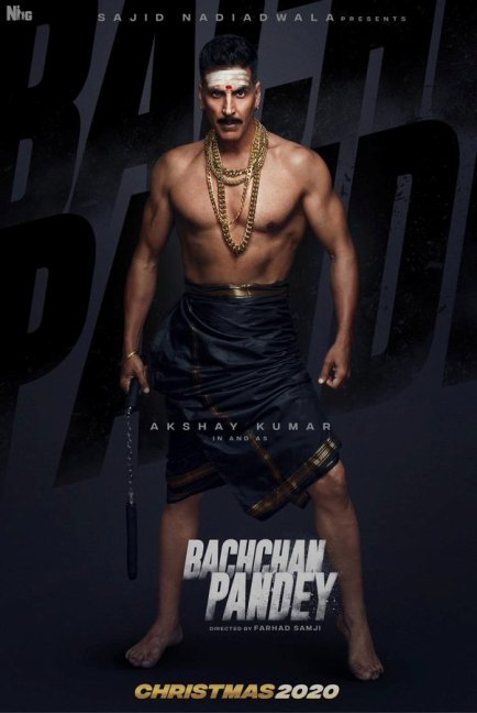 Bachchan Pandey new upcoming movie first look, Poster of Akshay next movie download first look Poster, release date