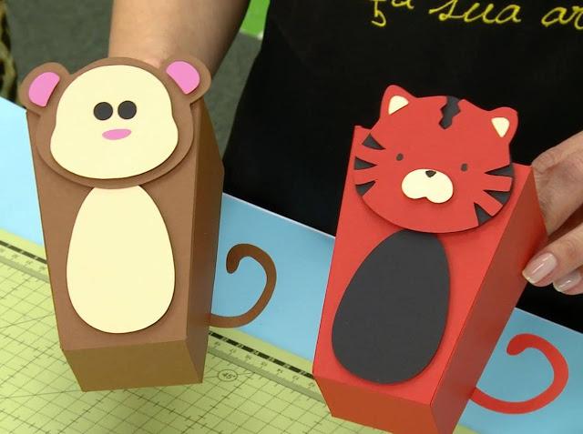 Caixa De Papel De Bichinhos Com Molde Para Imprimir Como Fazer