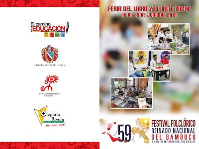 feria del libro y el arte fiestas de San Pedro Neiva 2019