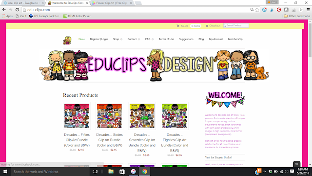 Great place to start for FREE cute kids clip art.