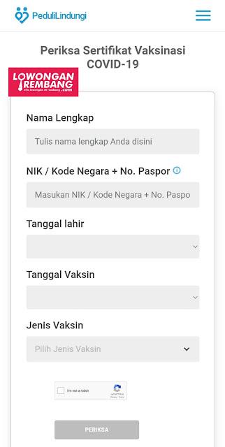 Sobat Loker Rembang Bisa Cek Download Dan Cetak Sertifikat Kartu Vaksin Sendiri Loh