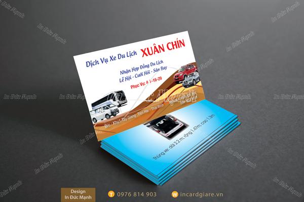 Mẫu card visit Dịch vụ xe Xuân Chín