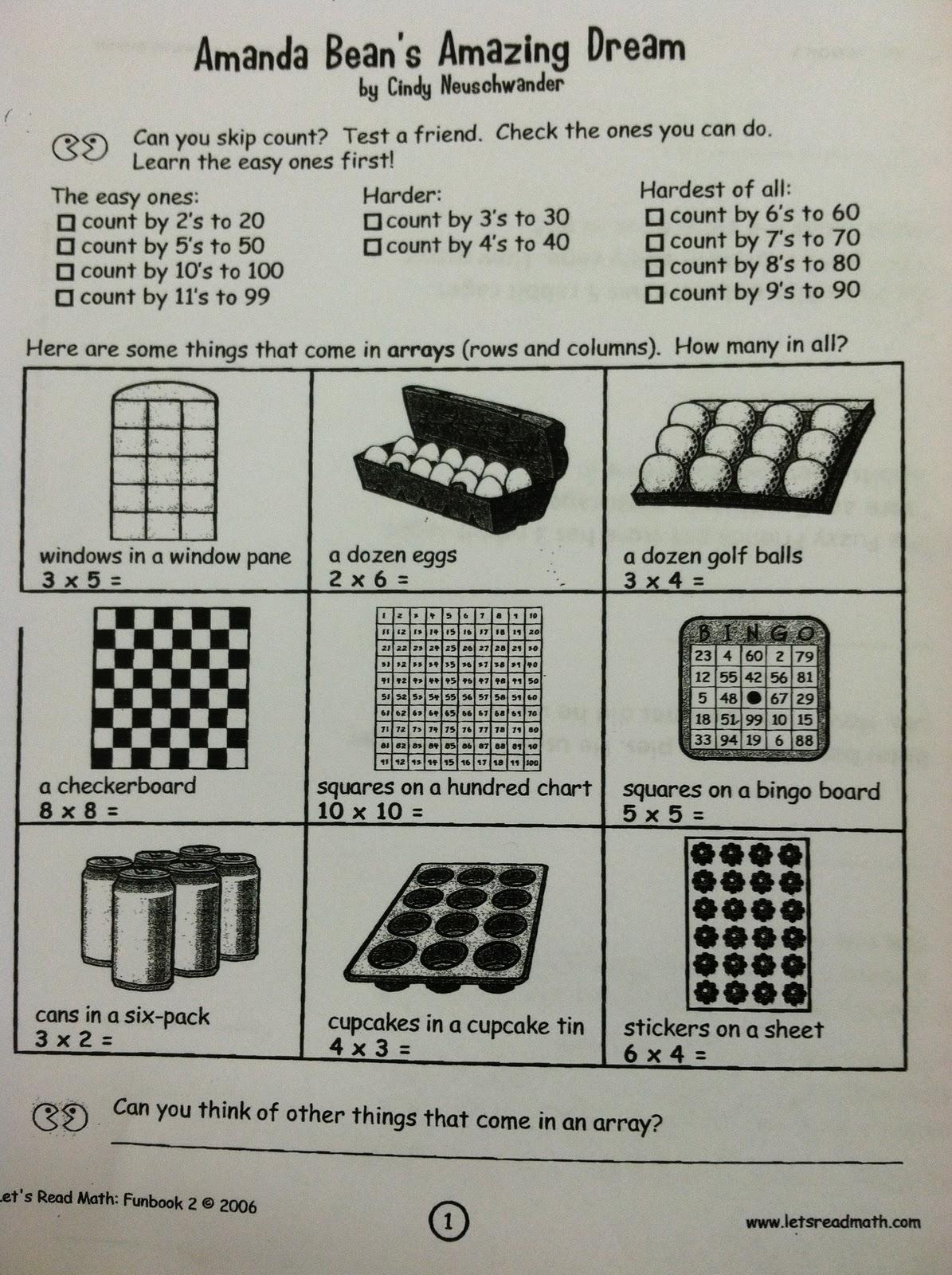 Building An Array 3rd Grade
