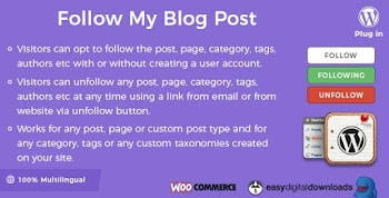 Follow My Blog Post v2.0.7 WordPress Plugin