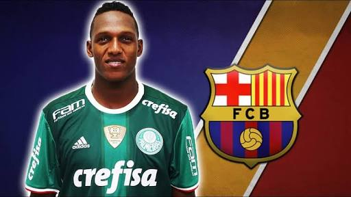 Yerry Mina joins Barca on a 5year deal
