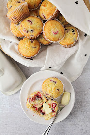 These soft and tender cranberry orange muffins are the perfect blend of tart and sweet!