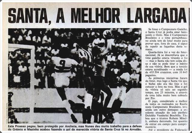 Placar Santa Cruz 1975