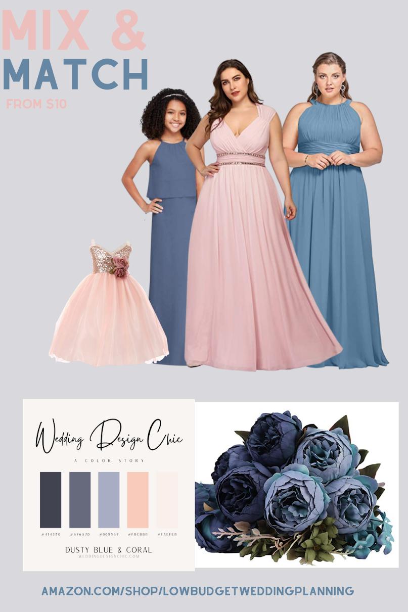 Dusty Blue wedding theme ideas