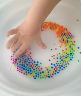 perles d'eau : taille initiale