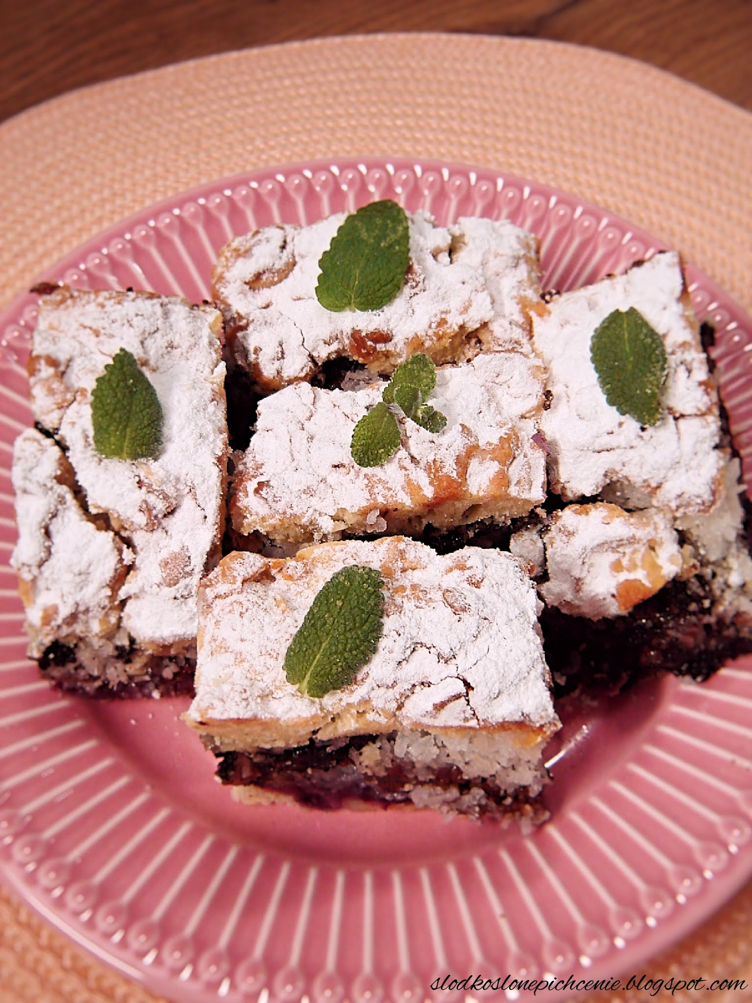Kruche ciasto makowo-kokosowe