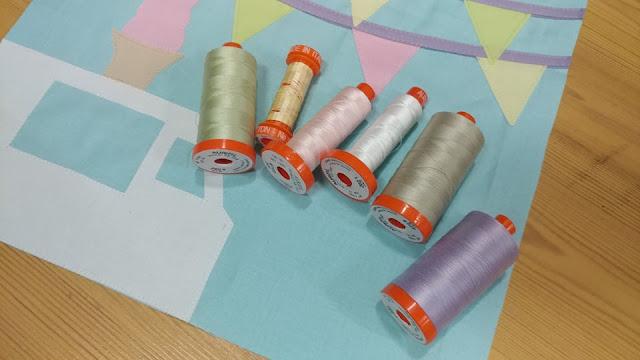Aurifil 50wt thread for raw-edge applique