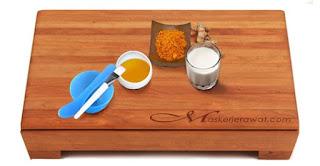 Obat batuk alami untuk Ibu hamil, 4. Campuran susu dengan kunyit dan madu
