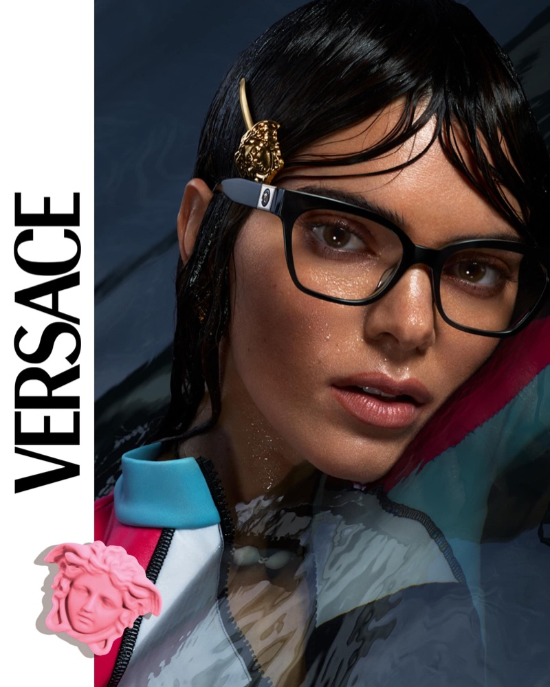 Model Kendall Jenner fronts Versace Eyewear spring-summer 2021 campaign.