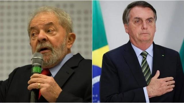 Lula venceria Bolsonaro com 51,3% dos votos no segundo turno