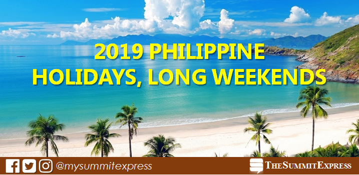 LIST: 2019 Holidays, Long Weekends in the Philippines