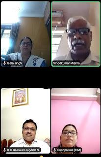 मनपा जी उत्तर और एफ उत्तर विभाग में ऑनलाइन हिंदी दिवस कार्यक्रम संपन्न  | #NayaSaberaNetwork