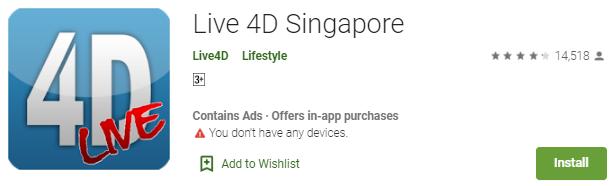 Menang Togel Dengan Aplikasi Live 4D Singapore Di Anroid