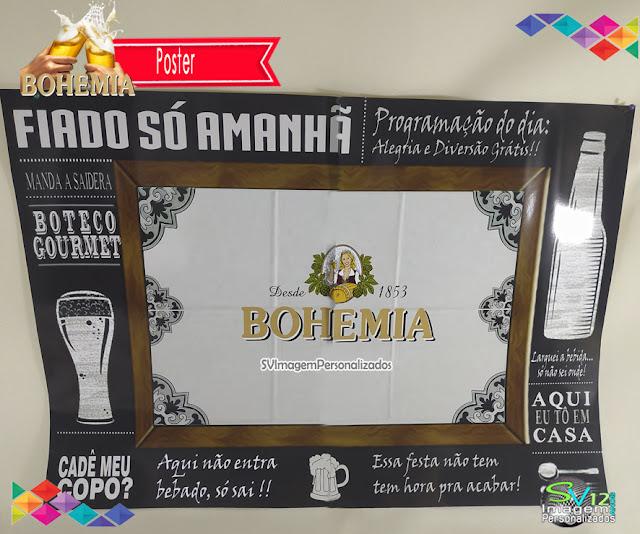 Boteco Cerveja Bohemia dicas e ideias para decoração de festa personalizados poster
