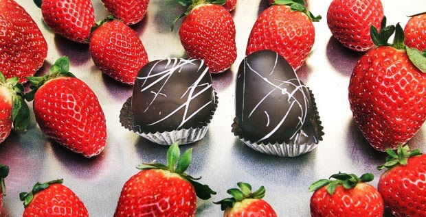 frutillas con chocolate dia de los enamorados