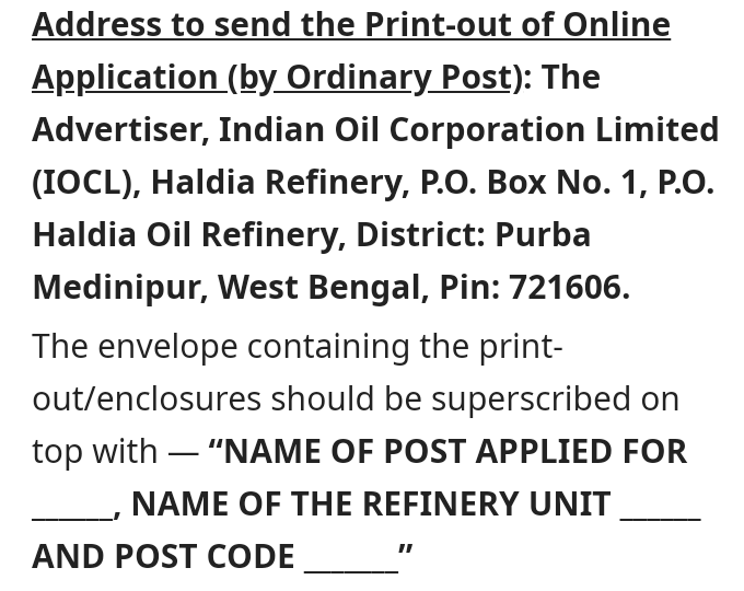 Indian Oil Corporation Ltd Recruitment 2019 - Apply Online