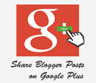 share blogger posts or pages to google plus