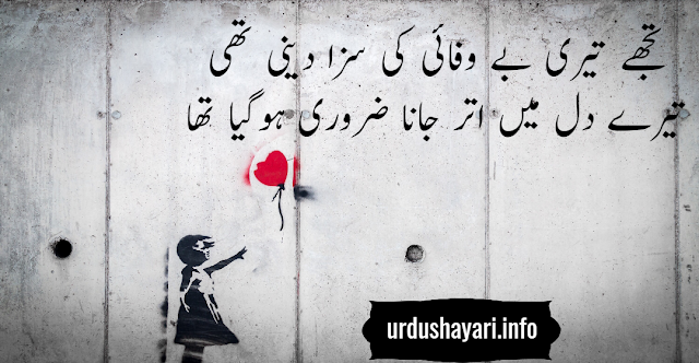 bewafi shayari in urdu - Amazing 2 lines poetry on Dil and Saza