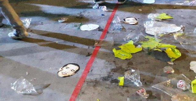 Kocak! Topeng Jokowi Berserakan jadi SAMPAH Usai Pelantikan Relawan, Fadli Zon Sindir dengan Lirik Lagu MENOHOK!!