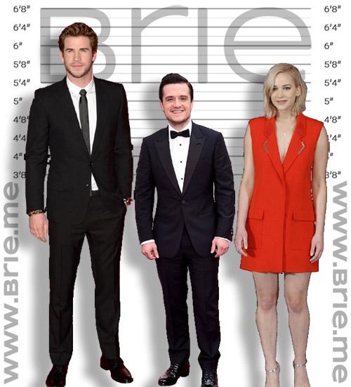 Josh Hutcherson with Liam Hemsworth, and Jennifer Lawrence