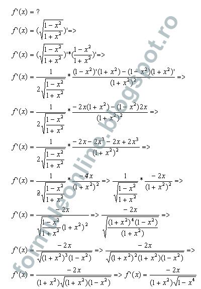 functii derivabile exercitii rezolvate