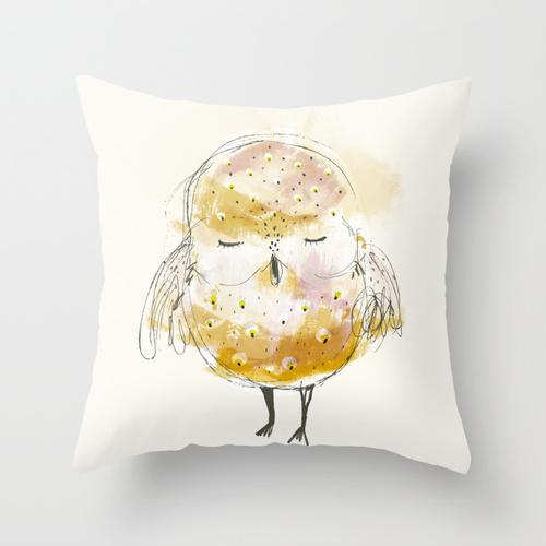 sowa na poduszce