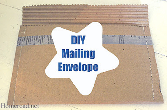 Packing envelope made from cardboard
