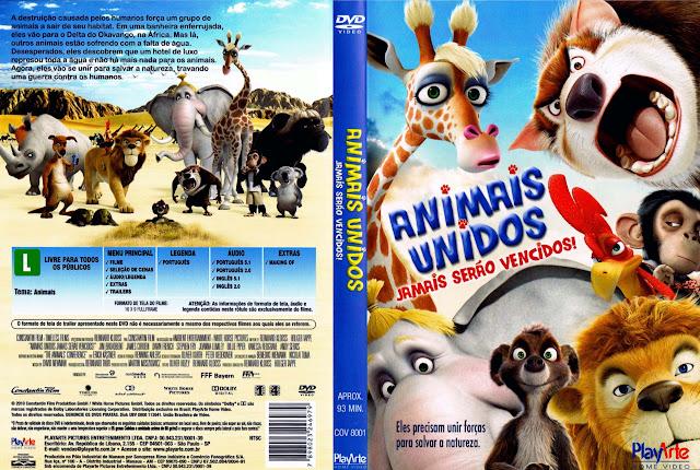 Capa DVD ANIMAIS UNIDOS JAMAIS SERÃO VENCIDOS!