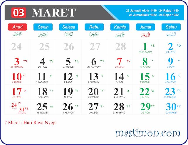 Kalender Jawa 2019 Februari 3