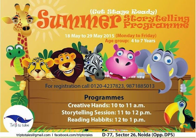 Summer Story Telling Program at Trips to Tales, Sector 26, Noida
