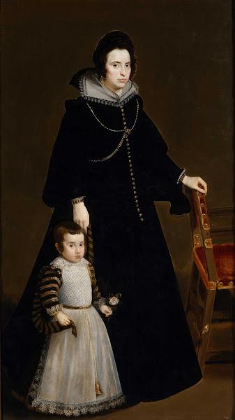 Диего Веласкес - Донна Антония де Пенаретта и её сын Луис (ок.1631)